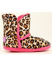 Blazin Roxx Girls' Sequined Leopard Print Slippers