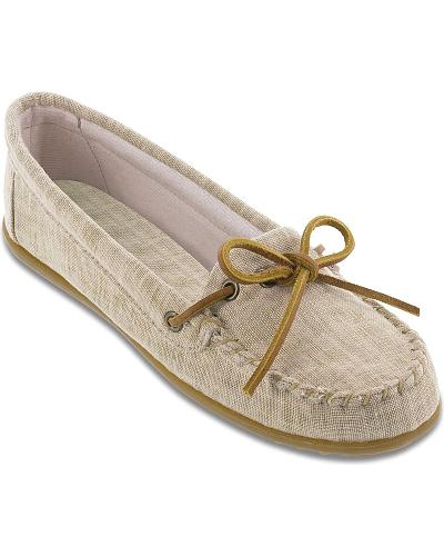 Minnetonka Womens Canvas Moccasins Western & Country 231