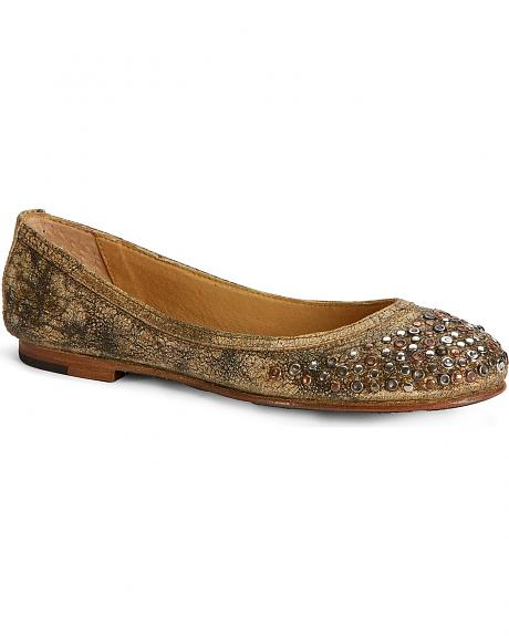 Frye Women's Carson Studded Ballet Flats - Round Toe