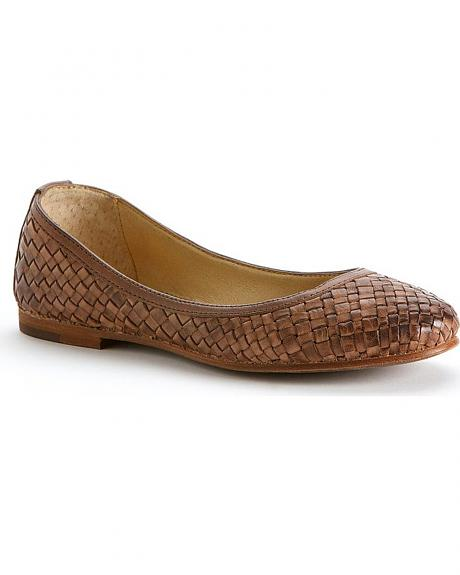 Frye Women's Carson Woven Dipped Flats - Round Toe