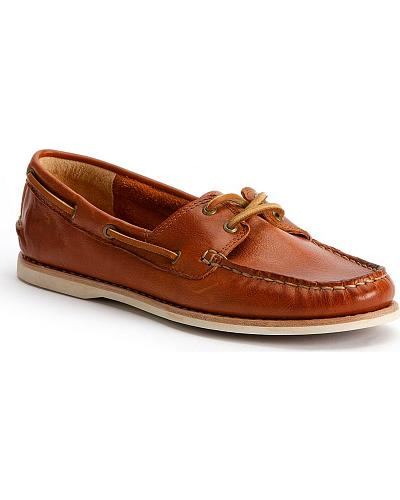 Frye Womens Quincy Boat Shoes Round Toe Western & Country 70156-WHS
