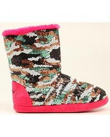 Blazin Roxx Camo Sequin Slipper Booties