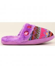 Blazin Roxx Colorful Woven Scuff Slippers