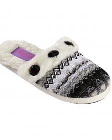 Blazin Roxx Girls' Colorful Woven Scuff Slippers