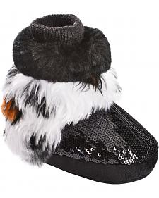 Blazin Roxx Infant Girls' White Tiger Fur Bootie Slippers