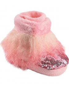 Blazin Roxx Infant Girls' Pink Fur Bootie Slippers