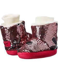 Blazin Roxx Infant Girls' Floral Sequin Fashion Slippers
