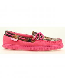 Blazin Roxx Women's All Weather Pink and Camo Moccasins