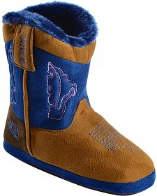 Double Barrel Infant Boys' Blue & Brown Cowboy Bootie Slippers