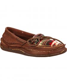 Durango City Women's Santa Fe Low Woven Moccasins