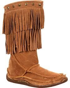 Durango Women's City Santa Fe Fringe Moccasin Boots