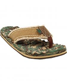 Double Barrel Canvas Camo Men's Flip Flops