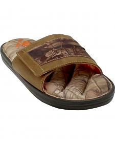 Double Barrel Men's Mossy Oak Slide-On Sandals