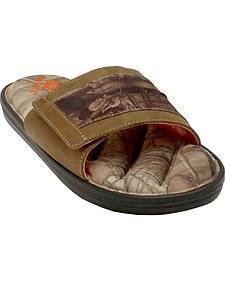 Double Barrel Men's Mossy Oak Slide-On Sandals