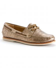 Frye Women's Quincy Metallic Leather Boat Shoes