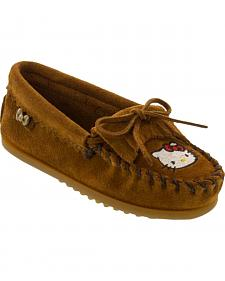 Minnetonka Girls' Hello Kitty Moccasins