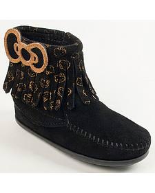 Minnetonka Girls' Hello Kitty Fringe Boots - Moc Toe
