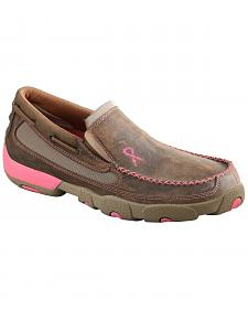 Twisted X Women's Tough Enough to Wear Pink Slip-On Driving Mocs