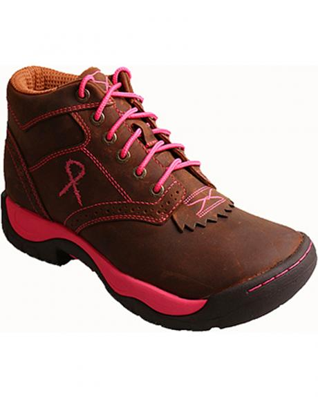 Twisted X Women's Tough Enough to Wear Pink Kiltie Hiking Boots