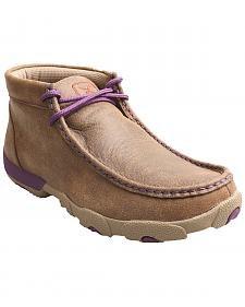 Twisted X Bomber Women's Leather Driving Mocs