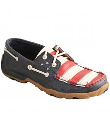 Twisted X Women's VFW American Flag Driving Mocs