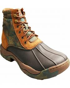 "Twisted X Women's Camo 6"" Rubber Boots - Round Toe"