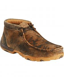 Twisted X Women's Distressed Tiger Driving Mocs