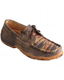 Twisted X Women's Leather Distressed Tiger Driving Mocs
