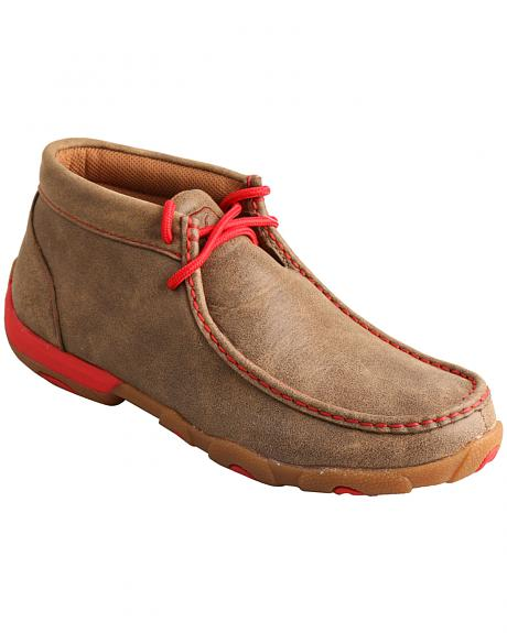 Twisted X Women's Brown and Red Driving Mocs
