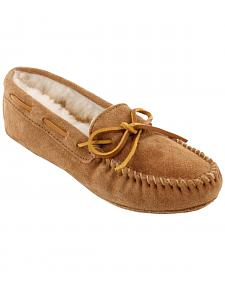 Minnetonka Women's Sheepskin Softsole Moccasins