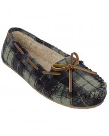 Minnetonka Women's Cally Plaid Slippers