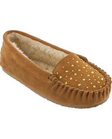 Minnetonka Women's Rhinestone Slippers