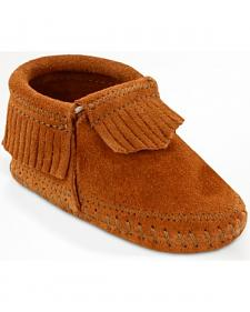 Minnetonka Infant Girls' Riley Moccasin Booties