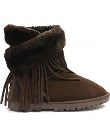 Lamo Footwear Women's Fringe Wrap Boots