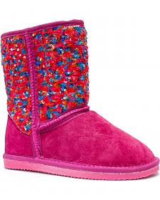 Lamo Footwear Girl's Sequin Pattern Boots