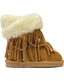 Lamo Footwear Kid's Fringe Wrap Boots