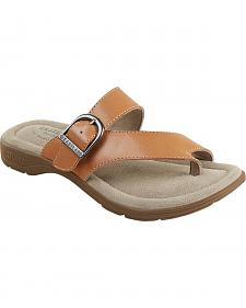Eastland Women's Light Tan Tahiti II Thong Sandals
