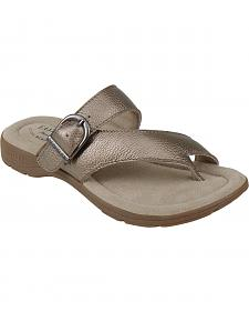 Eastland Women's SIlver Tahiti II Thong Sandals