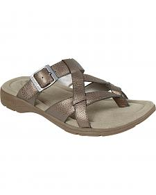 Eastland Women's Silver Pearl Thong Sandals