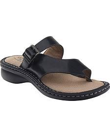 Eastland Women's Black Townsend Thong Sandals