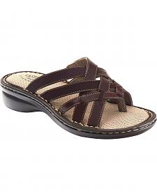 Eastland Women's Brown Lila Thong Sandals