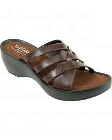 Eastland Women's Brown Poppy Wedge Sandals