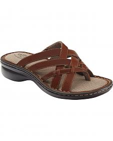Eastland Women's Cinnamon Lila Thong Sandals