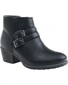 Eastland Women's Black Stella Strap and Buckle Booties