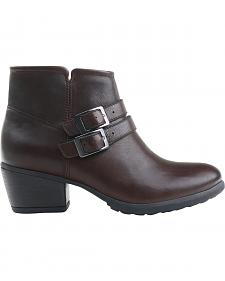 Eastland Women's Brown Stella Strap and Buckle Booties
