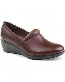 Eastland Women's Brown Savannah Plain Toe Slip On Shoes