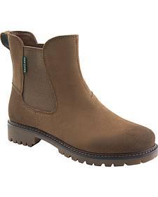 Eastland Women's Khaki Suede Ida Chelsea Boot