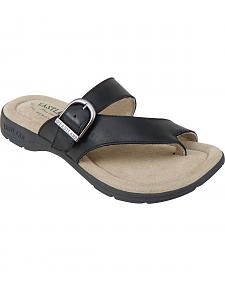 Eastland Women's Black Tahiti II Thong Sandals