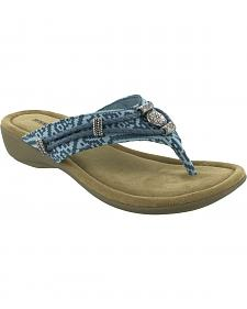 Minnetonka Women's Silverthorne Thong Sandals