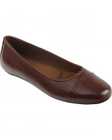 Eastland Women's Walnut Brown Gia Cap Toe Ballet Flats